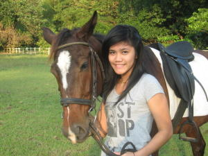 angie & horse